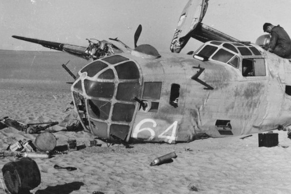 US Air Force bomber that crashed in the desert in World War 2